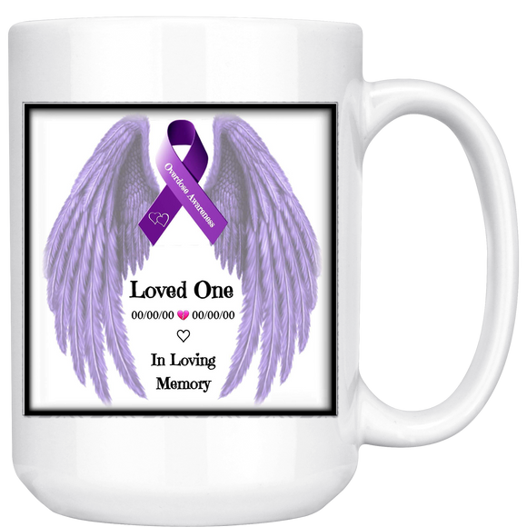 Personalized Overdose Awareness Ribbon 15oz Mug