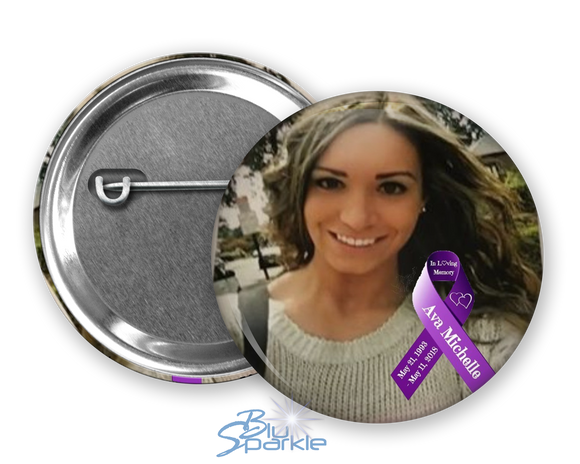 Personalized Awareness Ribbon & Photo Pinback Button