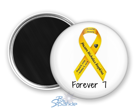 Personalized Awareness Ribbon Magnets