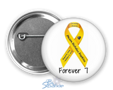 Personalized Awareness Ribbon Pinback Buttons