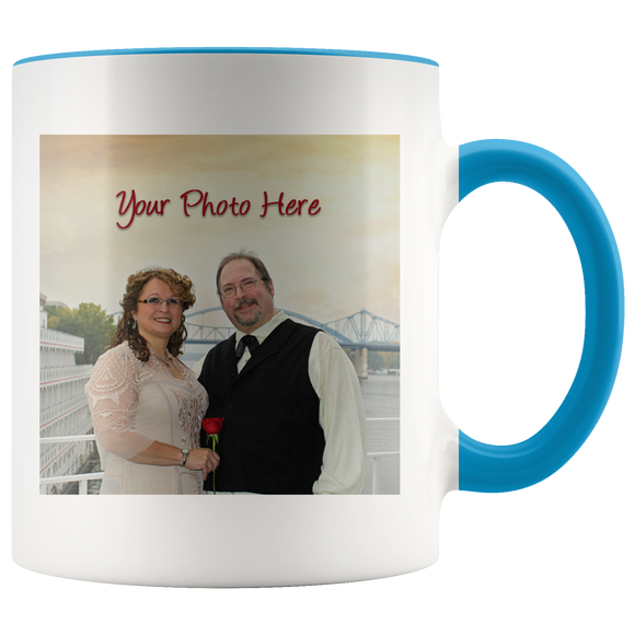 Personalized Accent Mug - ADD YOUR OWN PHOTO
