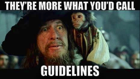 Captain Barbossa meme They're more what you'd call guidelines