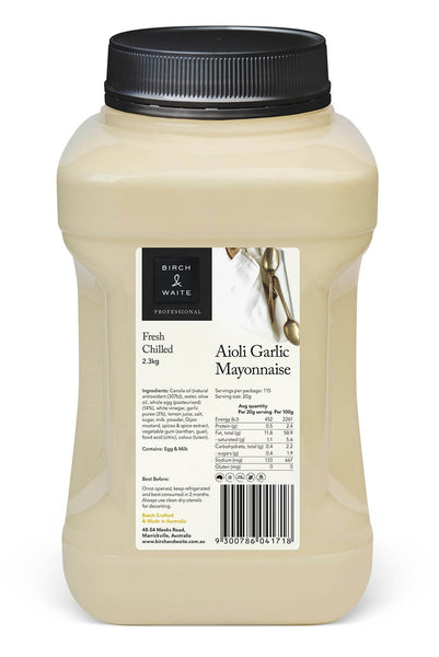 Aioli Garlic Mayonnaise 2.3kg