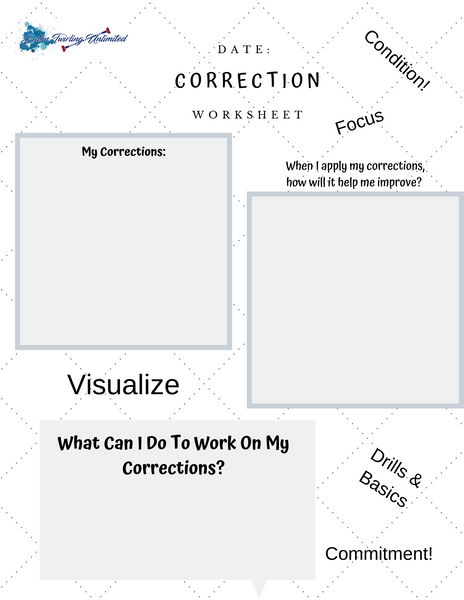 Positive Mindset Correction  Worksheet
