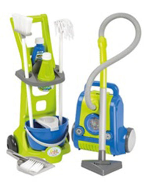 Ecoiffier Cleaning Trolley & Vacuum Cleaner