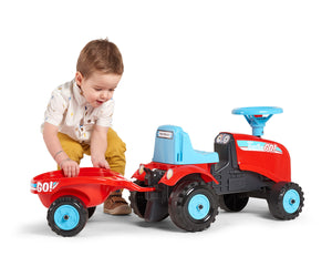Falk Tractor Go! Ride-on Tractor with Trailer