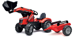 Falk Red Massey Ferguson S8740 Pedal Digger with Trailer
