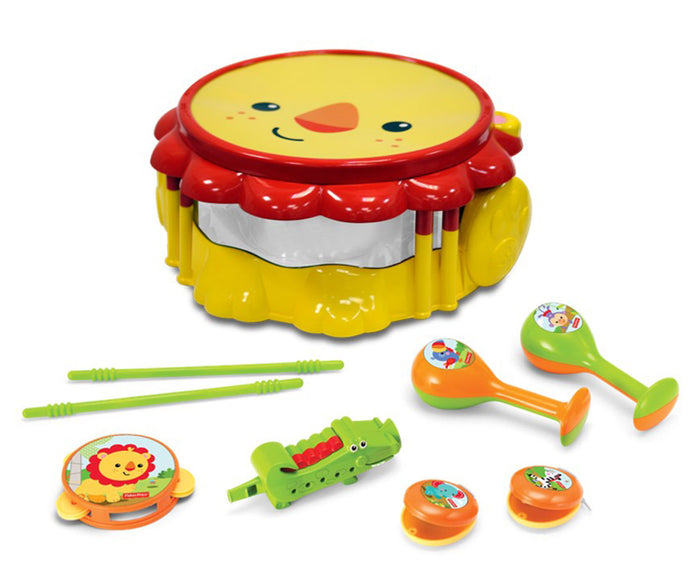 Fisher Price Lion Musical Band Drumset