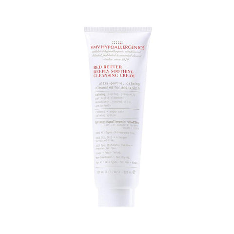Tube Of VMV Hypoallergenics Red Better Deeply Soothing Cleansing Cream Product