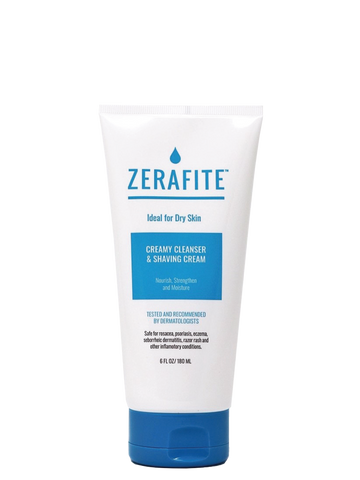 Tube Of Zerafite Creamy Cleanser and Shaving Cream Product