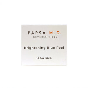 Packaging of Parsa MD Brightening Blue Peel Product