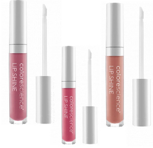 Three Bottles Of Colorescience Lip Shine SPF 35 Products
