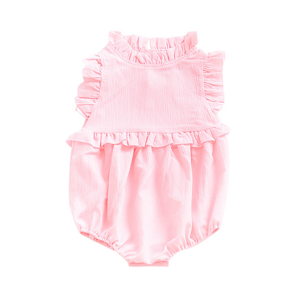 Newborn Baby Girls Sleeveless Ruffles Romper Jumpsuit Summer