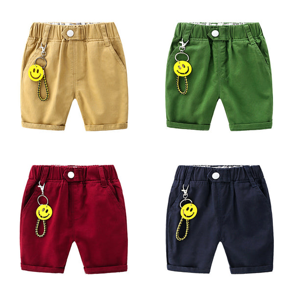 Solid color cartoon smiley trend boy five Shorts | KIDZOYA