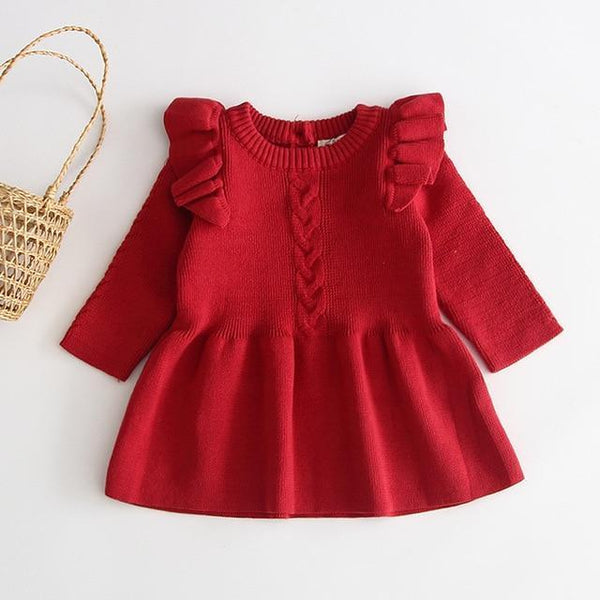 Baby warm dress knit sweater | KIDZOYA