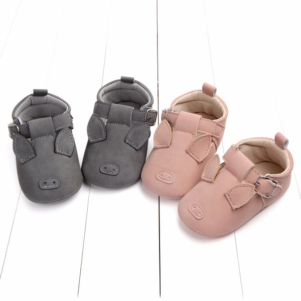 Spring and autumn cartoon animal baby shoes matte leather non-slip soft bottom baby shoes | KIDZOYA