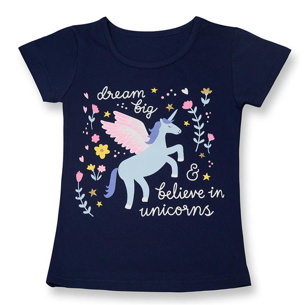 Unicorn short-sleeves  Girls T-shirts Summer