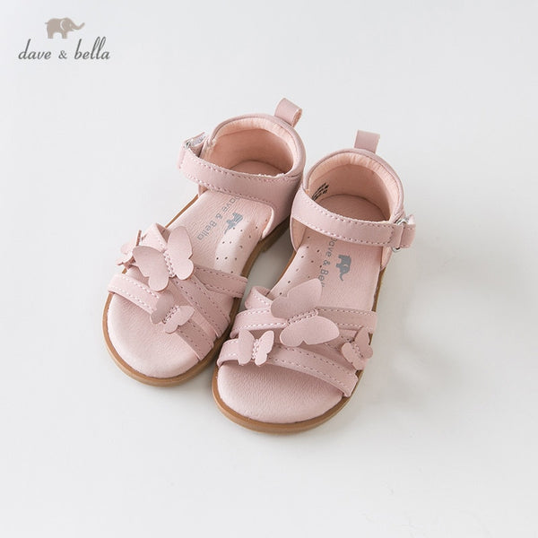 DB12855 Summer Baby Girls Fashion Sandals Shoes Butterfly Appliques | KIDZOYA