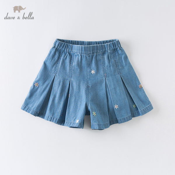 DBZ14070 Summer Baby Girls Fashion Floral Embroidery Shorts Kids | KIDZOYA