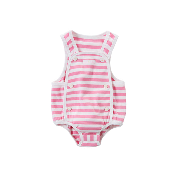 DB14138 Summer New Born Baby Unisex Fashion Striped Jumpsuits