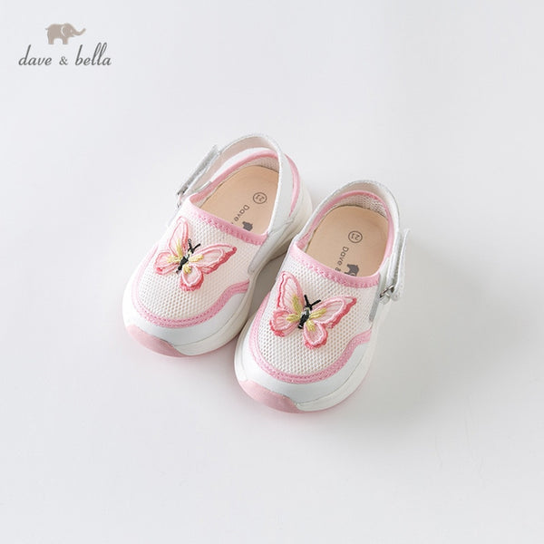 DB13759 Baby Girl Summer Fashion Sandals White Butterfly Cute Shoes | KIDZOYA