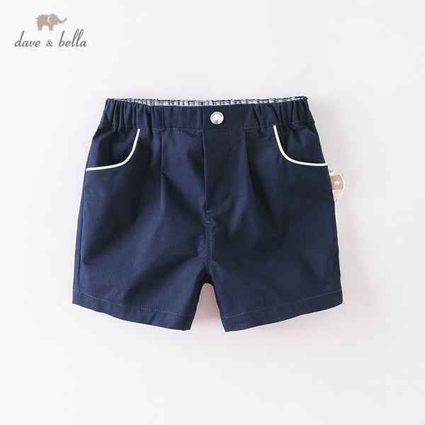 DBS12687-2 summer baby boys fashion solid pockets short kids trousers | KIDZOYA