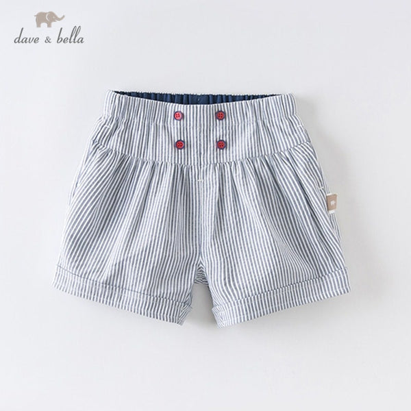 DBS12680 Summer Baby Unisex Fashion Striped Pockets Shorts Children | KIDZOYA