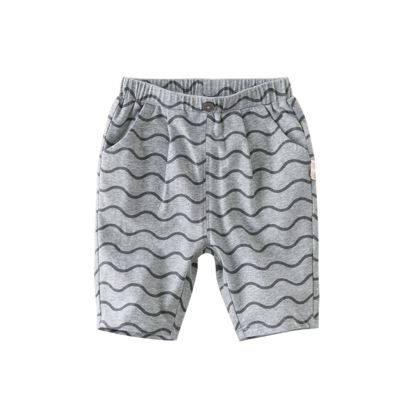 DB13142 summer baby boys fashion striped print pockets pants children