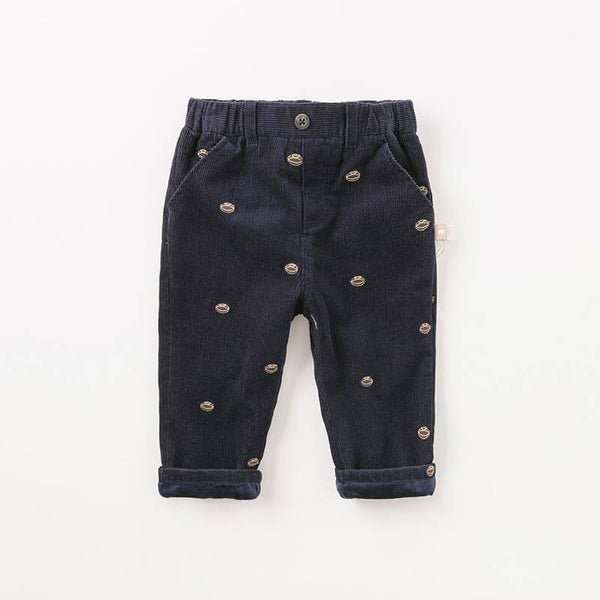 autumn winter baby boys pants children full length kids navy pants infant toddler trousers | KIDZOYA