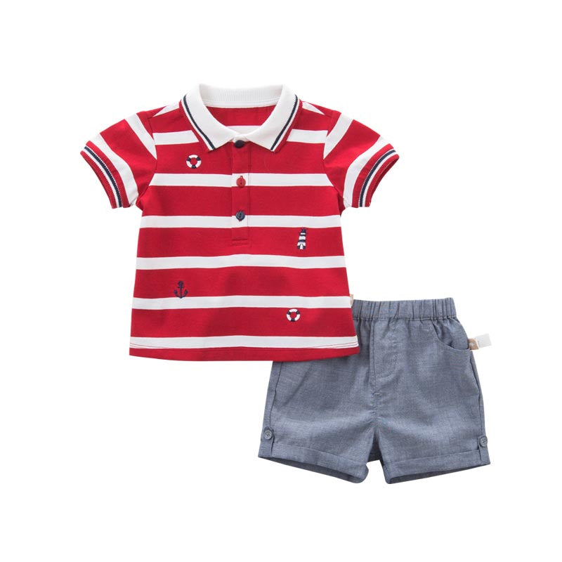 DB8285 Summer Baby Boys Striped Clothing Sets Children