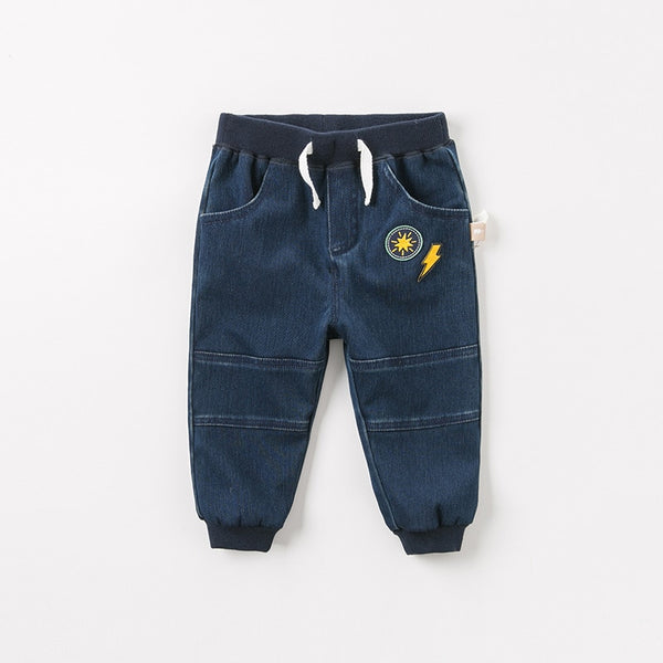 autumn baby boys fashion jeans children full length kids denim pants infant toddler trousers | KIDZOYA