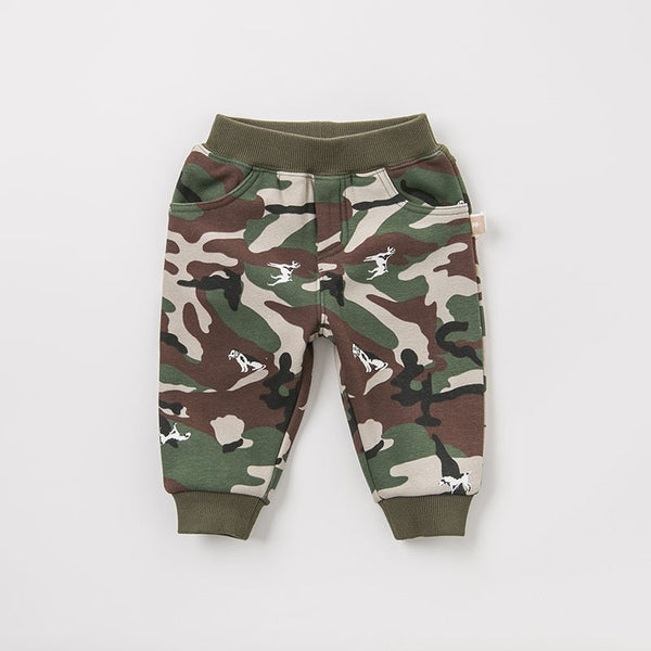 autumn baby boy fashion pants children full length kids pants infant toddler camouflage trousers | KIDZOYA