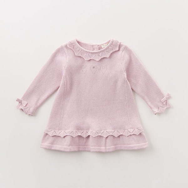 infant baby girls princess kids fashion wedding birthday children toddle knitted sweater | KIDZOYA