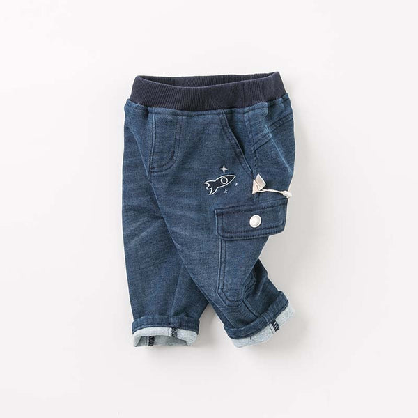 baby boys autumn fashion jeans children high quality pants infant toddler boutique soft trousers | KIDZOYA