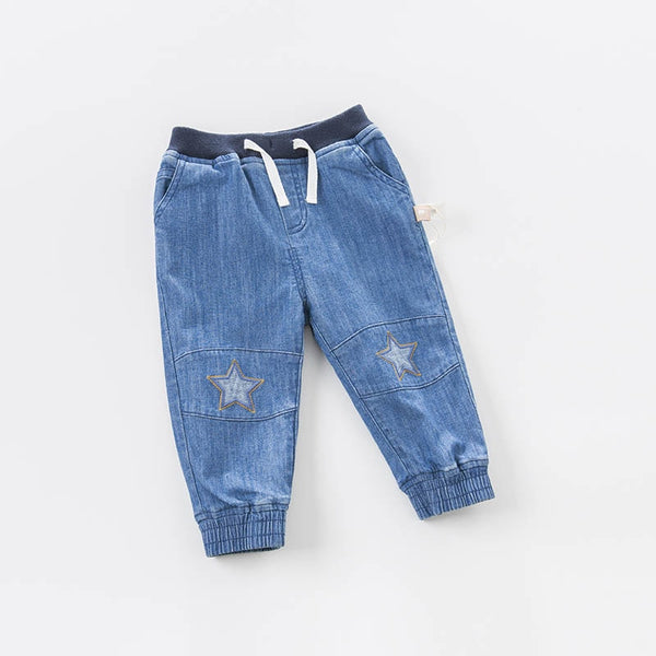spring baby boys fashion denim blue stars print jean kids pants children boutique trousers | KIDZOYA