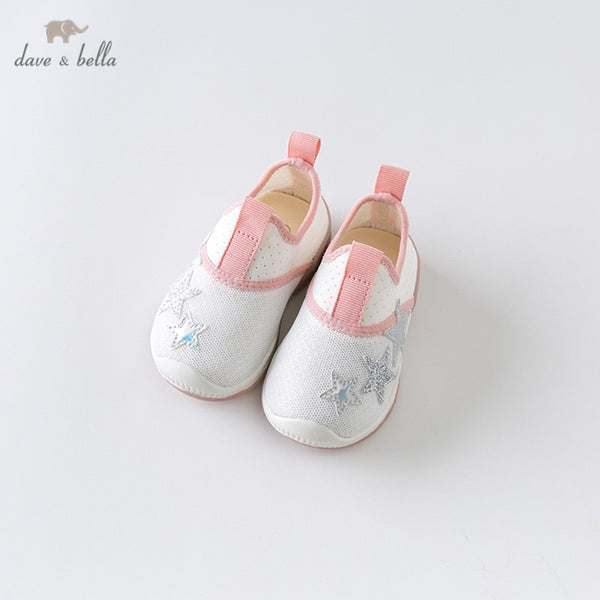 DB13784 Summer Baby Girl White Shoes New Born Girl Casual Shoes | KIDZOYA
