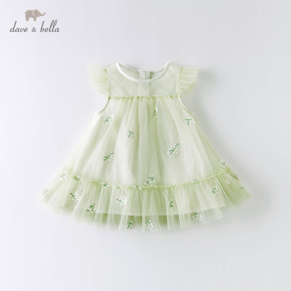 DBZ14055 Summer Baby Girl's Cute Floral Embroidery Dress Party