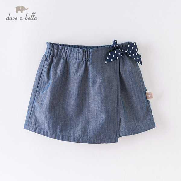 DB12980 Summer Baby Girls Fashion Solid Bow Pockets Shorts | KIDZOYA