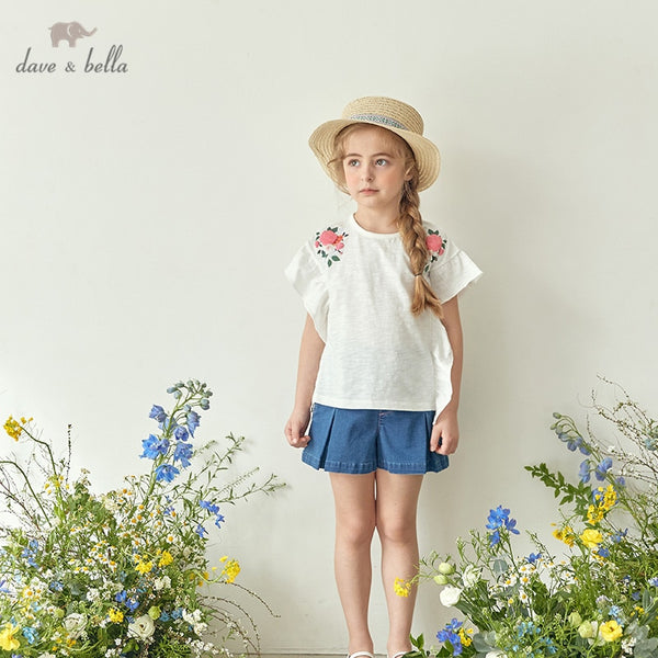 DKH13181 Summer Kids Clothes Children Fashion T-shirt Girls