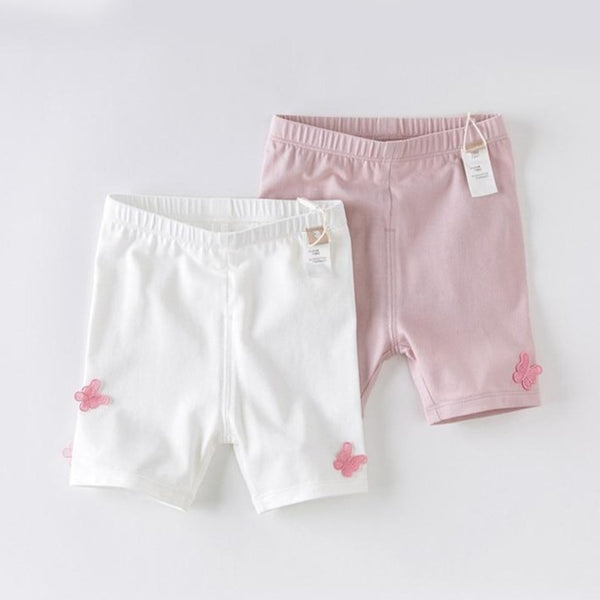 DB13808  Summer Baby Girls Fashion Butterfly Appliques Pants | KIDZOYA