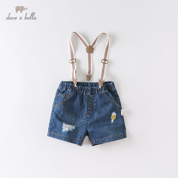 DBX13992 Summer Baby Boys Fashion Cartoon Strap Shorts | KIDZOYA
