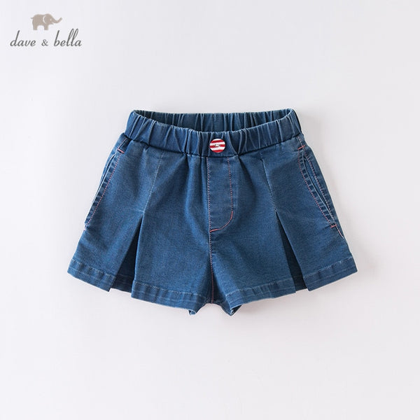 DKH13173 Summer Kids Girls Fashion Pockets Shorts Boutique