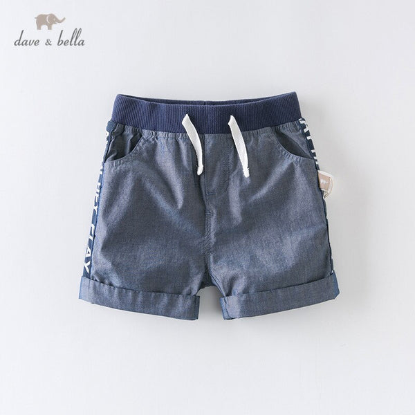 DBA12425 Summer Baby Boys Fashion Letter Pockets Shorts