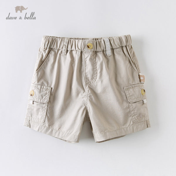 DB13812 summer baby boys fashion solid pockets shorts