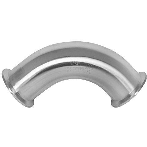 90 Degree Stainless Steel Elbow Tri Clamp Ferrule Fitting