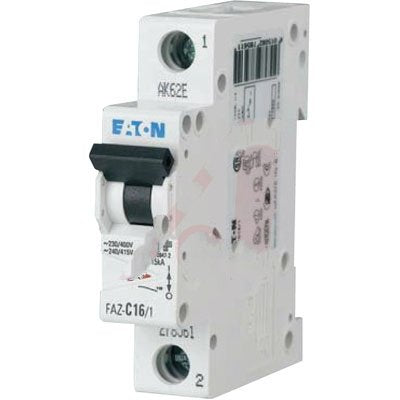 Eaton/Control Automation FAZ-B30/1-SP, Circuit Breaker, Supplementary, B Curve, 30A, 1-Pole, Single Packaging, UL 1077