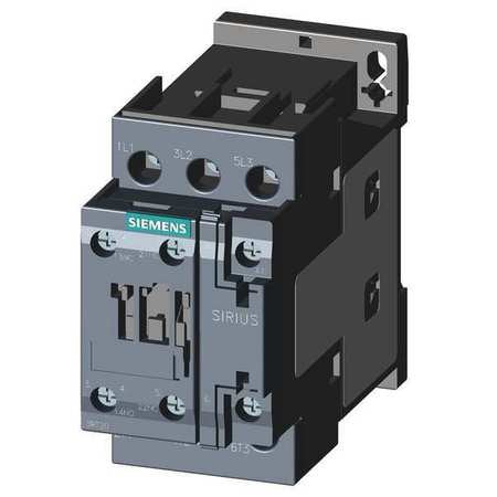 SIEMENS 3RT2026-1AK60 SIRIUS 3 POLE 25 AMP 120 VOLT AC CONTACTOR - 1NO+1NC AUXILIARY CONTACT