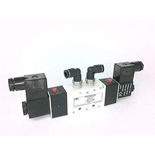OPTIMATION INC AVS-5322-24D NITRA Solenoid Valve, 5-Port (4-Way), 2-Position, Double Solenoid, (1) 1/4IN FNPT Inlet(S), (2) 1/4IN FNPT Outlet(S), (2) 1/4IN FNPT Exhaust(S), CV=1.4, 24 VDC, 3.0W, 11MM