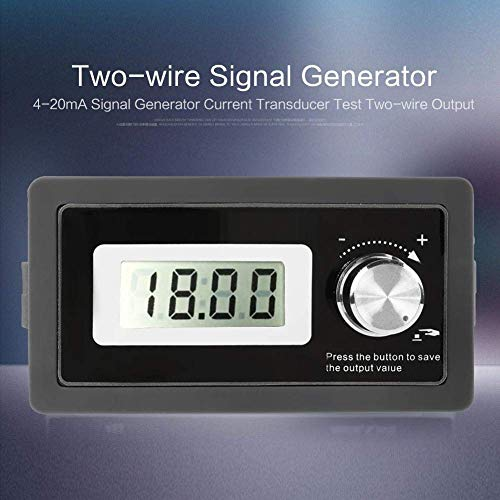 4-20mA Generator, DC 15-30V Signal Conditioner with 9-Segment Programmable Output, High Accuracy Current Transmitter PLC Analog Simulator Panel, 2-Wire Output System