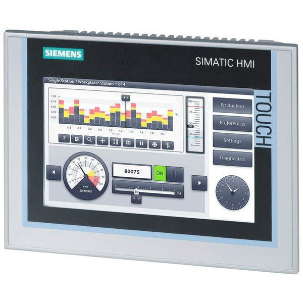 "Siemens 6AV2124-0GC01-0AX0 SIMATIC HMI TP700 COMFORT, COMFORT PANEL, TOUCH OPERATION, 7"" WIDESCREEN-TFT-DISPLAY, 16 MIL. COLORS, PROFINET INTERFACE, MPI/PROFIBUS DP INTERFACE, 12 MB USER MEMORY"